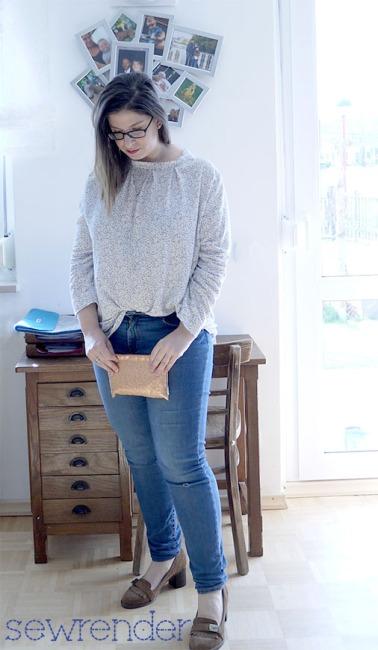 Bluse Karolina Skandinavische Mode selbst genäht sewrender Vollbild